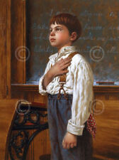 For Which It Stands Jim Daly Kid Children Pledge Patriotic Print Poster 11x14