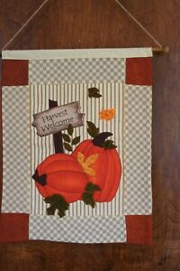 HARVEST WELCOME~Pumpkin Leaves~Fall Autumn~Wall Hanging Cloth
