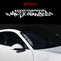 Waterproof JDM White Vinyl Sticker Need For Speed For Car Auto SUV Window Decal