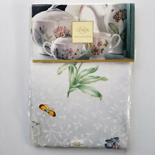 NEW - LENOX Butterfly Meadow Tablecloth 52in Square - White, Pastels
