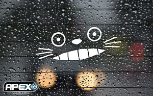 Smiling Totoro Style Face - Inspired by My Neighbour Totoro Vinyl Decal Sticker