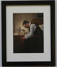 JACK VETTRIANO-Il peso-incorniciato & stampa montata nera sottile GRATIS P + P