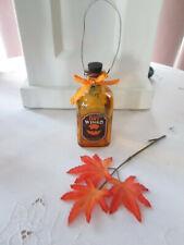 """4.75"""" Halloween Glass Bottle Ornament - Bat Wings, New"""