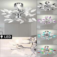 LED Cristal Lámpara de Techo Salón Ess Iluminación Habitación Cromo Follaje Piso