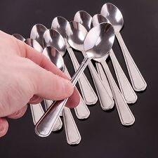 12 x MINI STAINLESS STEEL TEASPOONS Small Ice Cream Tea Coffee Sugar Spoon Set