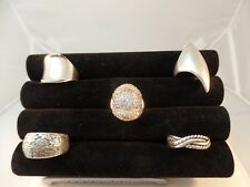 925 STERLING SILVER MISCELLANEOUS RINGS LOT OF 5  VARIOUS SIZE HEAVY  # S 1280