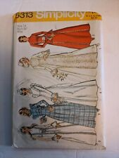 1972 Vintage SIMPLICITY 5313 Misses' Wedding Bridesmaid Dress Miss Size 14 Bst36