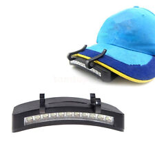 Outdoor Kappenlampe Kopflampe Stirnlampe Angeln Basecap Lampe Licht mit 11 LED