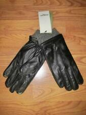 GOODFELLOW & CO~MENS M BLACK LEATHER DRESS GLOVES~WOOL/CASHMERE LINING~CUFF~NWT