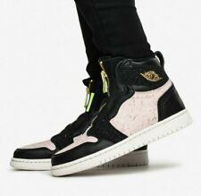 Rare Nike Air Jordan 1 High Zip Black Phantom Gold Trainers Men Women UK 9.5 New