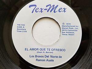 LOS BRAVOS del NORTE de RAMON AYALA - El Amor Que Te Ofresco 74 TEX-MEX Ranchera