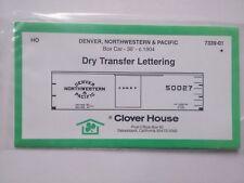 Clover House HO Denver, Northwestern & Pacific Dry Transfer Lettering 7339-01~TS