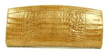 NANCY GONZALEZ $2,150 Metallic Gold Crocodile Skin XL Clutch Bag