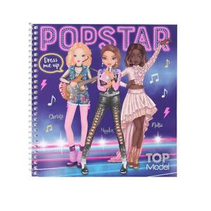 TOP Model POPSTAR Dress Me Up Sticker Book by Depesche Sent 1st Class Post