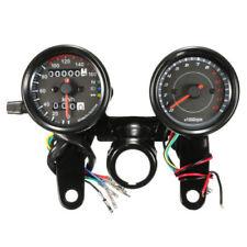 Universal Black LED Light Odometer + Tachometer Speedometer Gauge Motorcycle 12V