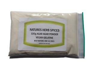 Agar Agar powder 100g - Food Grade. Vegan Gelatine