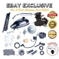 80cc Bicycle Motorized 2 Stroke Cycle Black Motor Petrol Gas Engine Kit USA OY