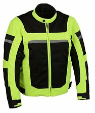 Milwaukee Performance Men's High Visibility Green Nylon/ Mesh Combo Moto Jacket