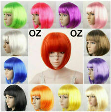 Womens Short Straight BOB Sleek Hair with bang Synthetic Cosplay Wig Wigs Party
