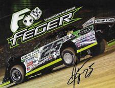 "SIGNED 2017 JASON FEGER ""CHEAP CARS"" #25 NON NASCAR DIRT LATE MODEL POSTCARD"