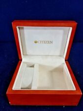Vintage Hinged Lacquered Wood Citizen Watch Box Case / Jewelry Display