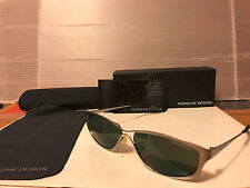 NEW Porsche Design P2006C Sunglasses, Palladium / Grey-Green Lens