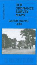 OLD ORDNANCE SURVEY MAP CARDIFF NORTH 1915