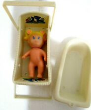 Vintage 1982 Meritus Doll Cradle and Bathtub