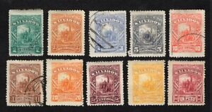 Salvador 1892 10 stamps Mi#49-58 MH/used