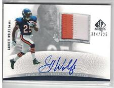 2007 GARRETT WOLFE SP AUTHENTIC ROOKIE AUTO 2 COLOR PATCH BEARS NIU ALOUETTES!!