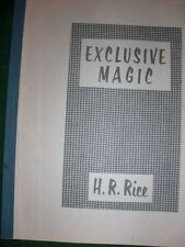 Exclusive Magic - H.R. Rice - Mickey Hades Ent.