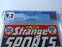 STRANGE SPORTS STORIES 4 CGC 9.2 BASKETBALL BOXING DC COMICS