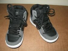 Dc Spark hi top leather sneakers 11 youth kids shoes black gray skateboard 28 Eu
