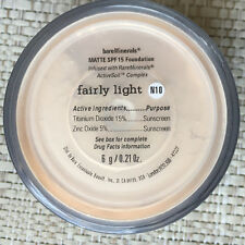 Bare Escentuals bareMinerals Fairly Light MATTE N10 6g XL foundation SPF15 NEW