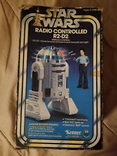 "1977 Vintage Star Wars 8"" Radio Controlled R2-D2 Robot w/Box Not Working"