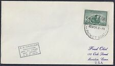 CANADA NEW ZEALAND US 1951 PACKET BOAT AUCKLAND CANCEL POSTED ON THE HIGH SEAS