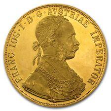 1915 Austrian 4 Ducat Gold Coin - AU or BU - SKU #8882