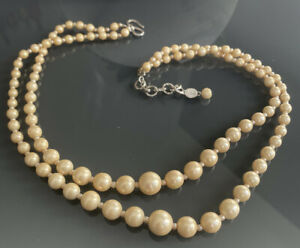 Christian Dior  Dated 1958 Vintage Champagne Pearl Necklace