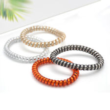 12PCS Rubber Telephone Wire Hair Ties Thin Spiral Slinky Hair Head Elastic Bands