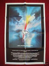 SUPERMAN * 1978 ORIGINAL MOVIE POSTER 1SH CHRISTOPHER REEVE BRANDO HACKMAN NM-M