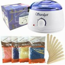 Hot Wax Warmer Hair Removal Waxing Kit Electric   4 Bags Hard Wax Beans&10 Stick