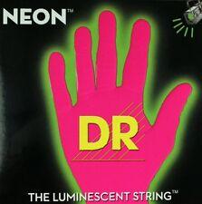 DR NEON NPB6-30 Neon Pink Luminescent/Fluorescent Bass Guitar 6 Strings 30-125
