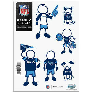 Tennessee Titans Family Decal Sticker Set