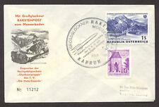 1962 Austria rocket mail cover - Grossglockner