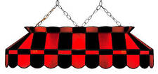 """Red and Black 40"""" Stained Glass Pool Table Light - NEW - MADE IN U.S.A."""