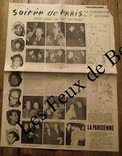 Article Soiree de Paris,Boris Vian,dessin Cocteau,Waroquier,Paul Guth  1955