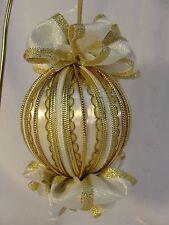 Handmade Christmas Tree Ornament Gold Braids & Trims Handmade Bows & Ribbon