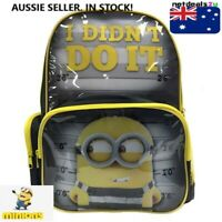 Dispicable Me Minions Official School Backpack Book Bag Kids Boys Travel Toy 3+