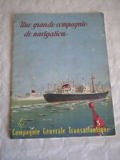 Ocean liner La compagnie generale transatlantique childrens book 1960s SS France