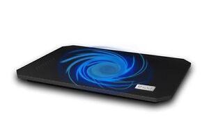 "Notebook Kühler S200 Laptop Cooling Pad 1x Lüfter 2x USB blaue LED 10""-15"""